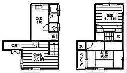 [一戸建] 東京都世田谷区弦巻2丁目 の賃貸【/】の間取り