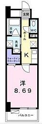 高松琴平電気鉄道長尾線 花園駅 徒歩4分の賃貸マンション 3階1Kの間取り