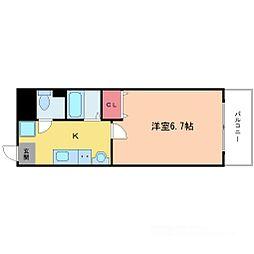 フローライト新大阪[3階]の間取り