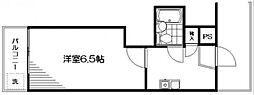 第6フロントビル[406号室]の間取り