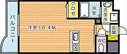 セレスタイト黒崎[4階]の間取り