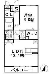 クレール湘南台II[101号室]の間取り
