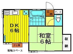 みづほ荘[1−A号号室]の間取り