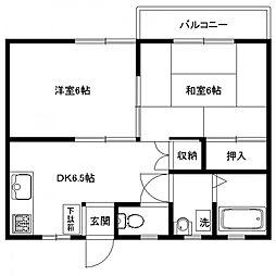 コージィーコート[2階]の間取り