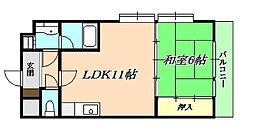 YKハイツ旭ヶ丘[2階]の間取り