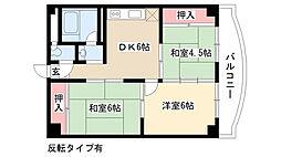 愛知県名古屋市南区桜台1丁目の賃貸マンションの間取り