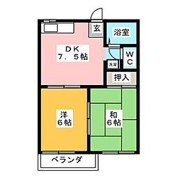 フォーブル浅井B[2階]の間取り