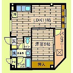 市ヶ尾森ビル五番館[3階]の間取り
