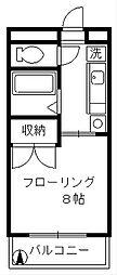 ローズパル[4階]の間取り