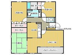 フォレスト竹の台[2階]の間取り