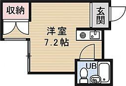 プレアール京都六地蔵[106号室号室]の間取り
