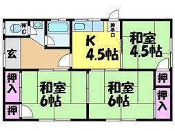 [一戸建] 愛媛県松山市桑原3丁目 の賃貸【/】の間取り