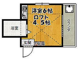 西国分寺サンハウス3[2階]の間取り