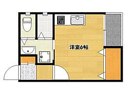 JR山陽本線 明石駅 徒歩7分の賃貸アパート 3階ワンルームの間取り