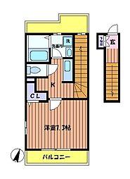 メゾンアベイユ[2階]の間取り