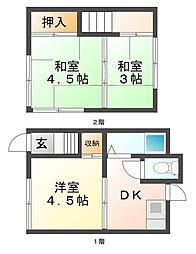 [一戸建] 兵庫県神戸市垂水区山手4丁目 の賃貸【/】の間取り