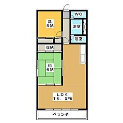 マーサ21[1階]の間取り