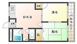 香里大西コーポ[2階]の間取り