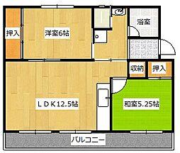福岡県中間市大字上底井野の賃貸マンションの間取り