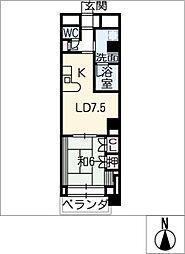 錦ハーモニービル[6階]の間取り