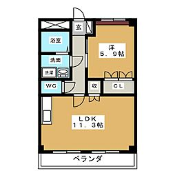 G Forest S[2階]の間取り