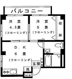 東京都世田谷区野沢3丁目の賃貸マンションの間取り