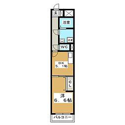 HF仙台五橋レジデンス[9階]の間取り