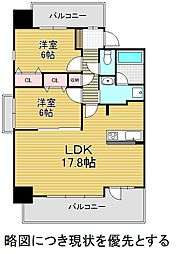 愛知県名古屋市千種区茶屋坂通2丁目の賃貸マンションの間取り