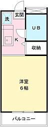 グリーンハイツ唐木田[203号室]の間取り