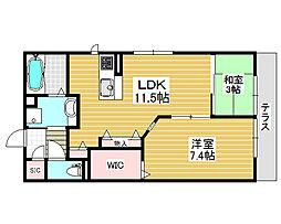 (仮称)D-Room西之町[1階]の間取り