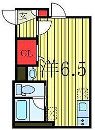 JR山手線 池袋駅 徒歩19分の賃貸アパート 3階ワンルームの間取り