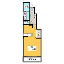 レジェンダリーA[1階]の間取り
