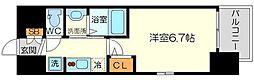 エステムコート新大阪14アイシー 11階1Kの間取り