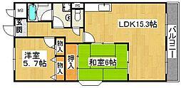ドミール東鴻池[3階]の間取り