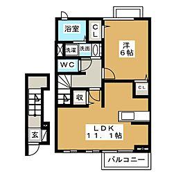 カームパインツリー24[2階]の間取り