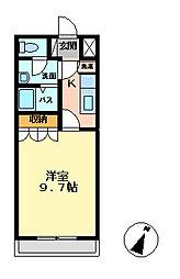 サニーサイド神立[106号室]の間取り