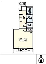 ハーベストIII[1階]の間取り