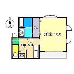六泉寺ハウス[3階]の間取り