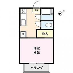 坂田コーポ[201号室号室]の間取り