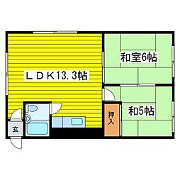 北海道札幌市東区北二十五条東10丁目の賃貸アパートの間取り