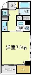 ワイズコート阿倍野[4階]の間取り