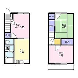 [テラスハウス] 埼玉県吉川市中曽根1丁目 の賃貸【/】の間取り