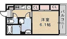 阪急京都本線 茨木市駅 徒歩8分の賃貸マンション 1階1Kの間取り
