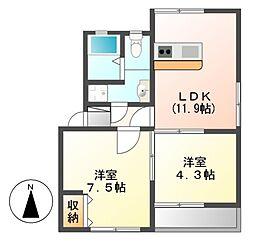 富士見台コープ[3階]の間取り