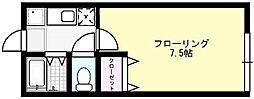 メゾン貝塚[202号室]の間取り