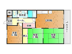 WOOD FIVE II (ウッドファイブツー)[3階]の間取り