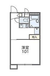 千葉県八千代市下市場2丁目の賃貸アパートの間取り