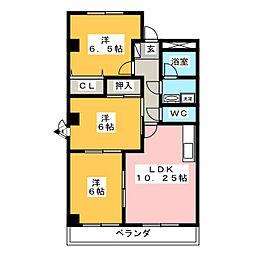 エクセルマンション[2階]の間取り