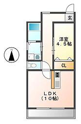 愛知県名古屋市昭和区北山本町2丁目の賃貸マンションの間取り