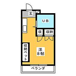シャルマンワタリ[1階]の間取り
